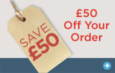 Save £50 on your order